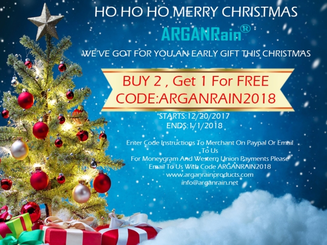 arganrain products christmas offer
